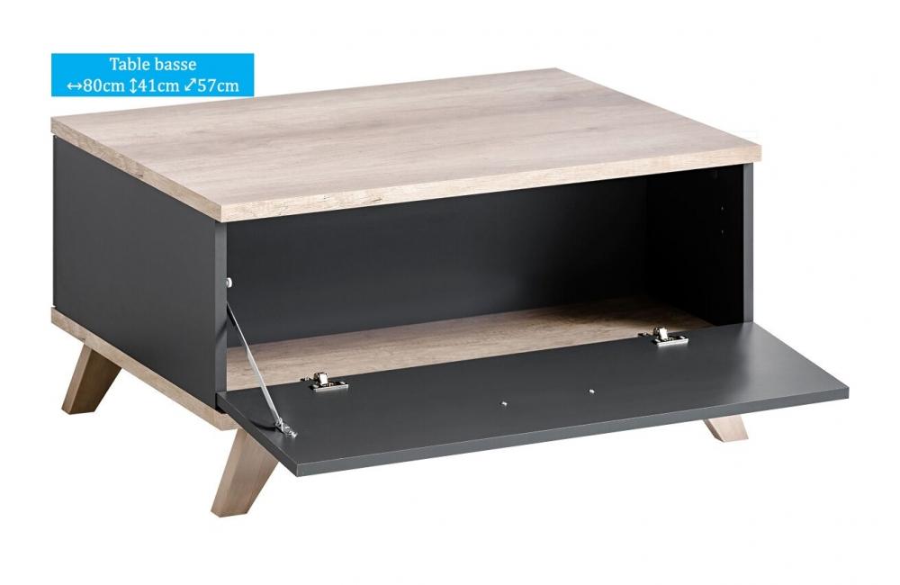 table basse oslo 1 l ment dusine. Black Bedroom Furniture Sets. Home Design Ideas
