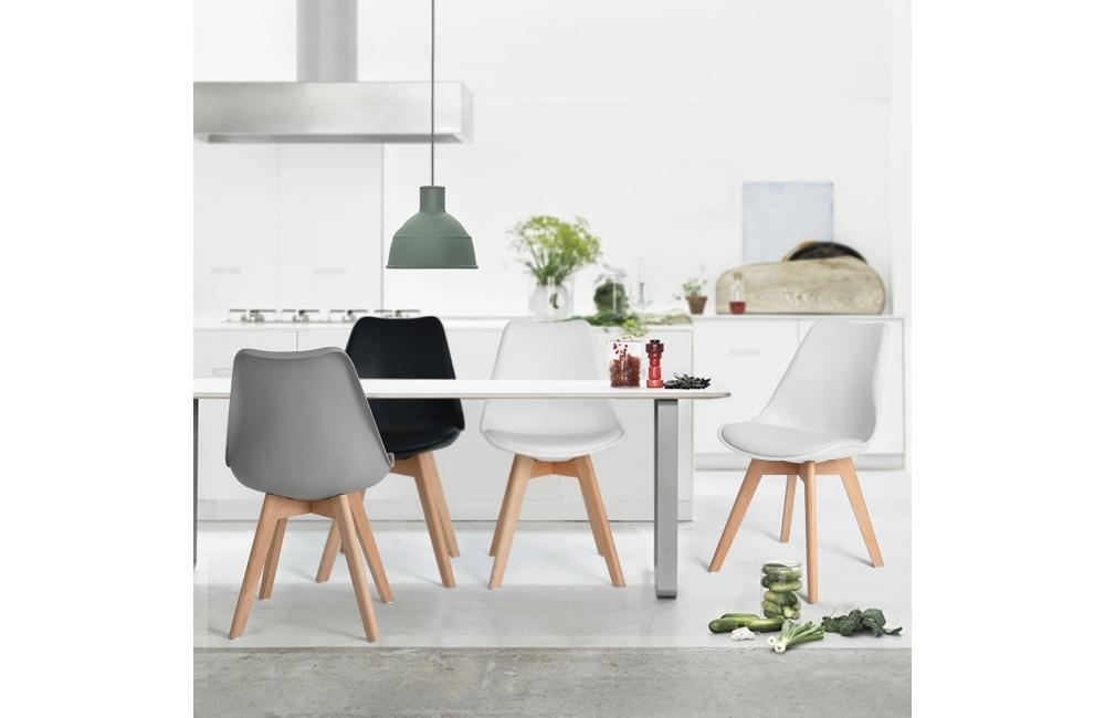 chaise omega avec coussin dusine. Black Bedroom Furniture Sets. Home Design Ideas