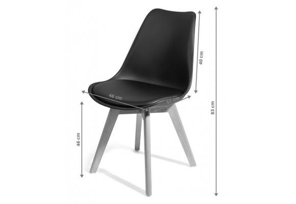 Chaise OMEGA - scandinave avec coussin