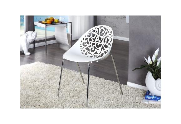 Chaise Design Fleurs Scultées