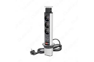 Bloc prise triple + 2x USB