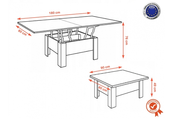 GOOSE TABLE BASSE EXTENSIBLE