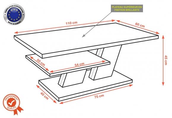 BELVEDERE TABLES BASSES – 110 CM