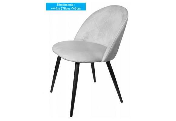 CHAISE - CANDY - 2 COULEURS