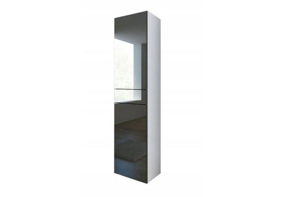 Colonne Pureza 40 cm suspendu ou sur pieds - Façades Laqués et structure blanc MAT - 2 COULEURS