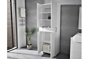 Colonne Pureza 60 cm suspendu ou sur pieds - Façades Laqués et structure blanc MAT